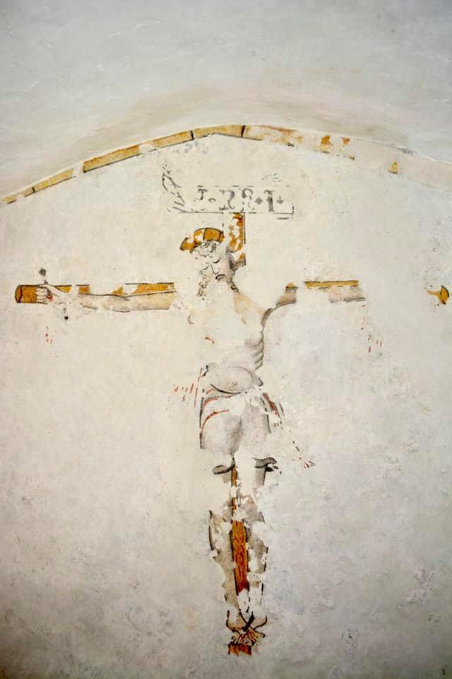 Affresco del Cristo crocifisso