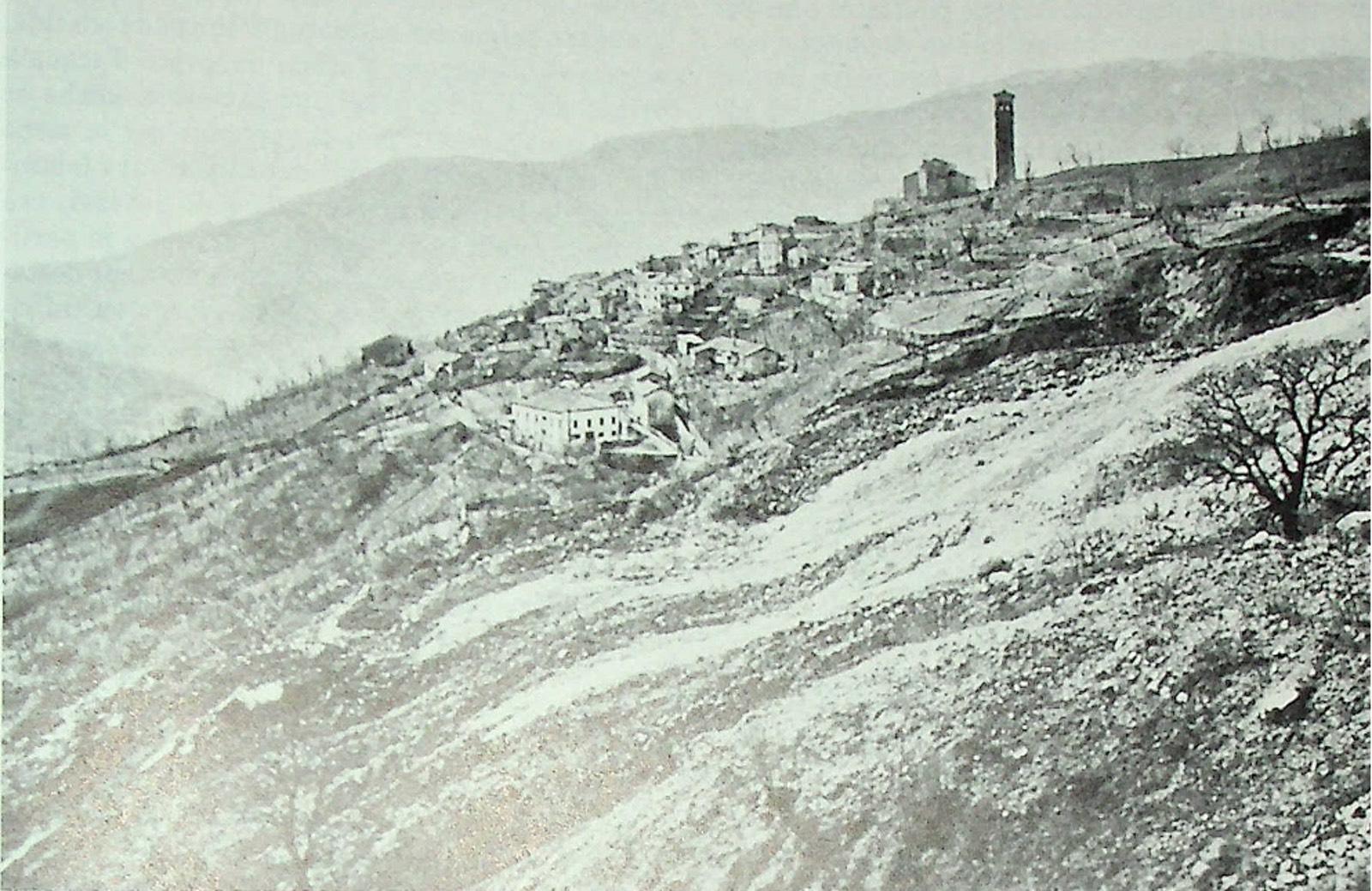 La frana di Clauzetto del 1914.