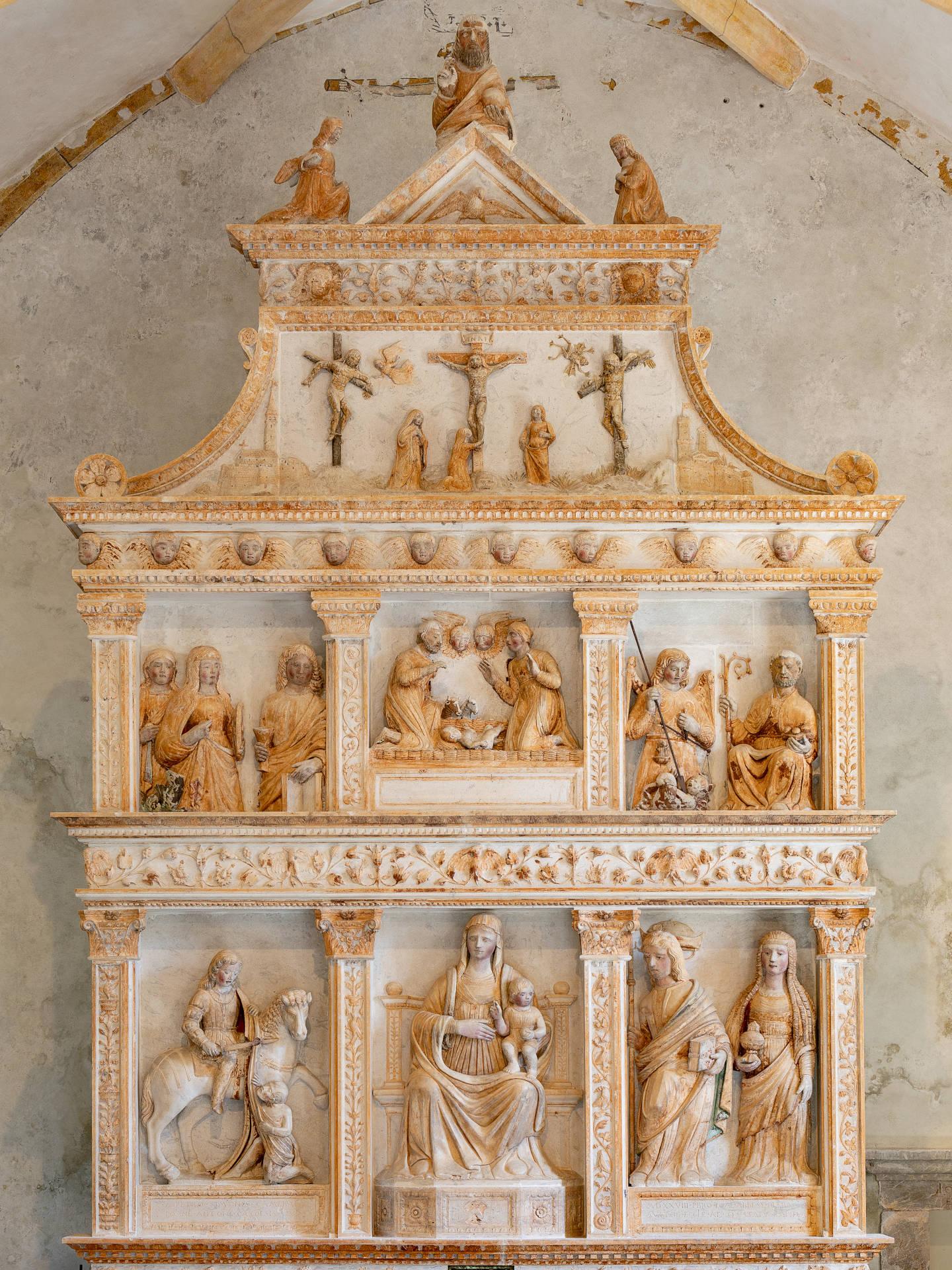 Altarea della Pieve di S. Martino D'Asio