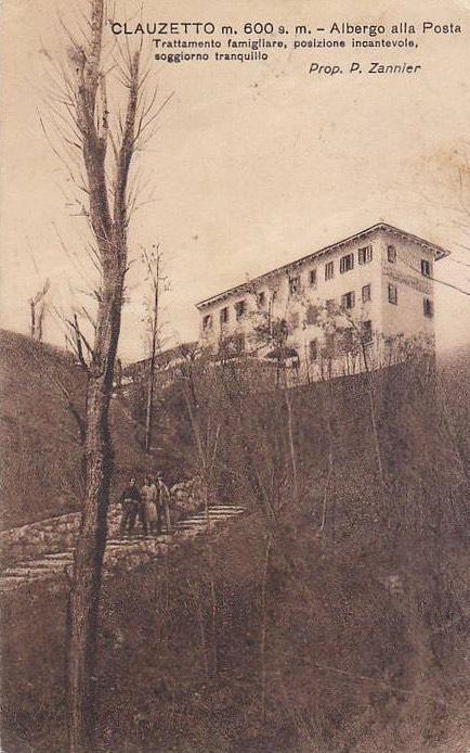 albergo alla Posta visto da Chialines, ora via dei Tonis, anni '20
