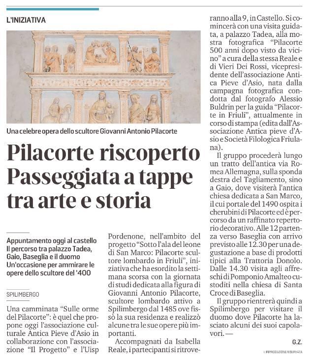 Il Messaggero Veneto 11 luglio, p. 43