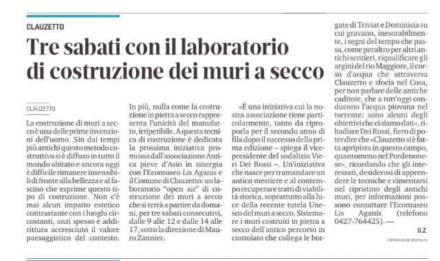 Messaggero Veneto 4 settembre 2020