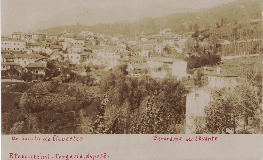 panorama da levante foto Pascuttini Forgaria, anni '10/'20
