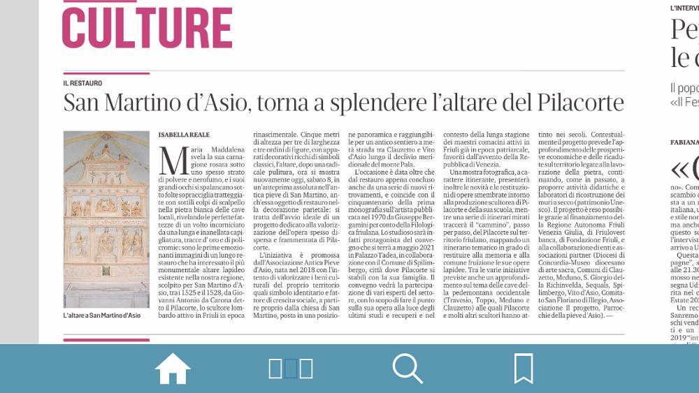 Messaggero Veneto 8 agosto 2020