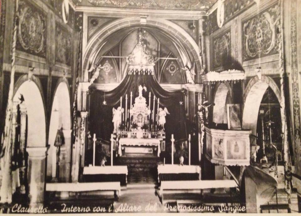 Santuario del Preziosissimo Sangue, interno anni '50