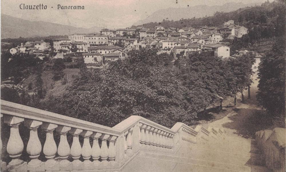 Scalinata della chiesa e panorama sulla Villa, 1914