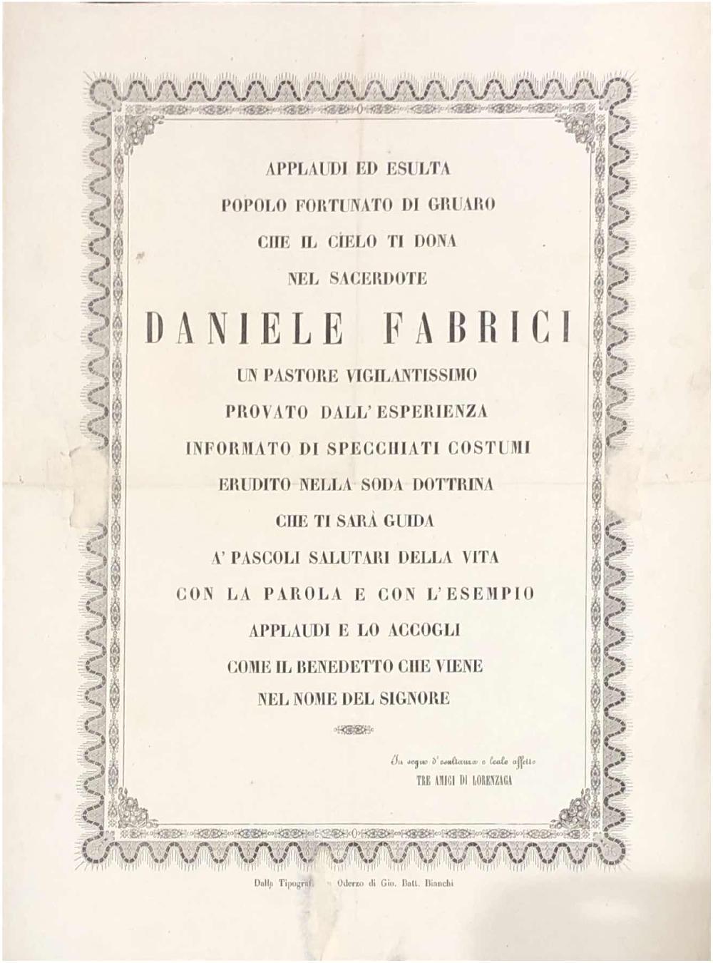 A Daniele Fabrici novello parroco di Gruaro