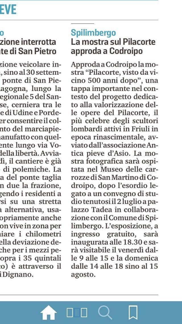Il Messaggero Veneto 23 luglio 2021, p. 32