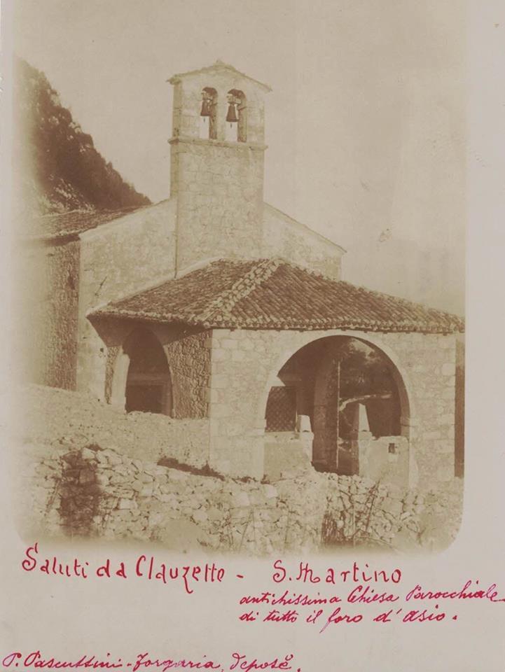 Antica pieve d'Asio, fine '800, foto Pascuttini Forgaria