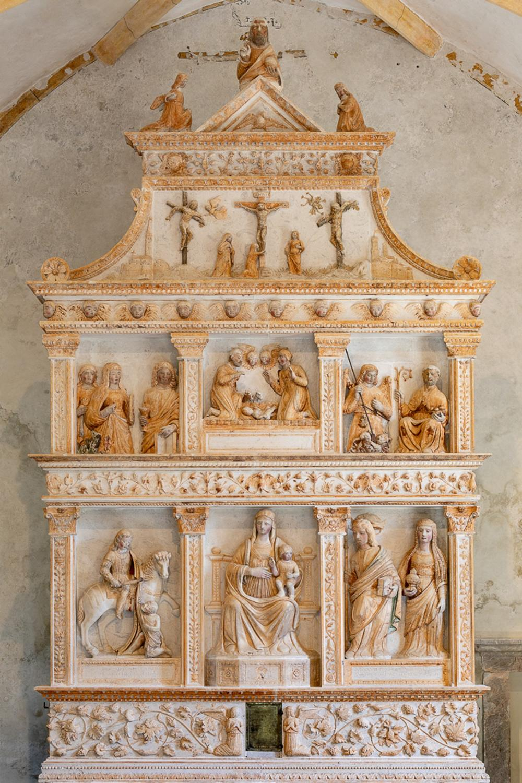 Altare del Pilacorte - Pieve di san Martino d'Asio