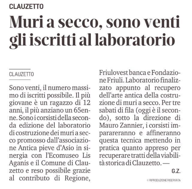 Messaggero Veneto 12 settembre 2020