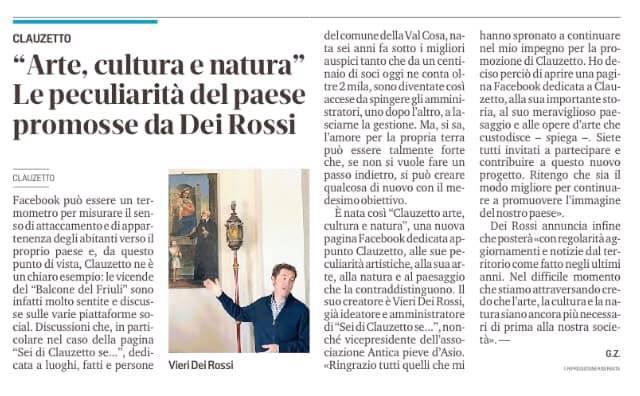 Messaggero Veneto 12 maggio 2020
