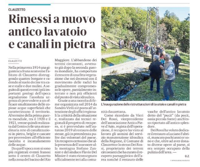 Messaggero Veneto 8 ottobre 2020