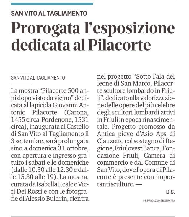 MESSAGGERO VENETO, MARTEDÌ 5 OTTOBRE 2021, P. 43