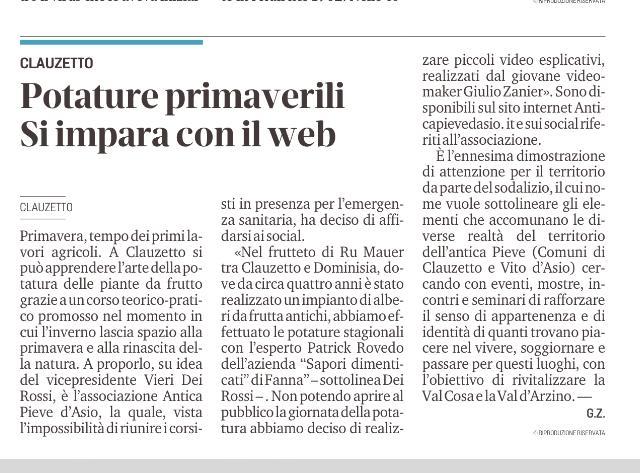 Messaggero Veneto 25 aprile 2021