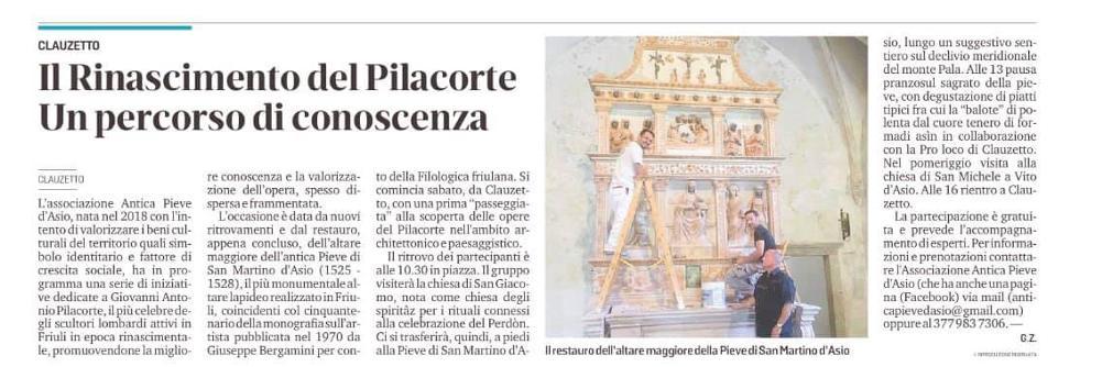 Messaggero Veneto 5 agosto 2020