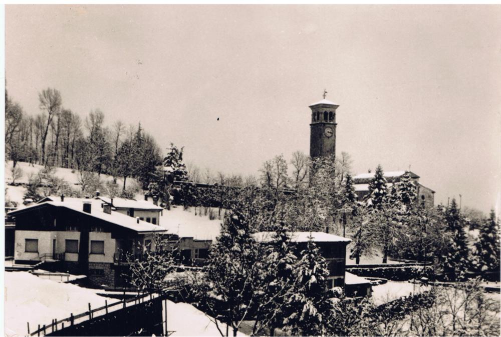 Clauzetto con la neve, anni '60