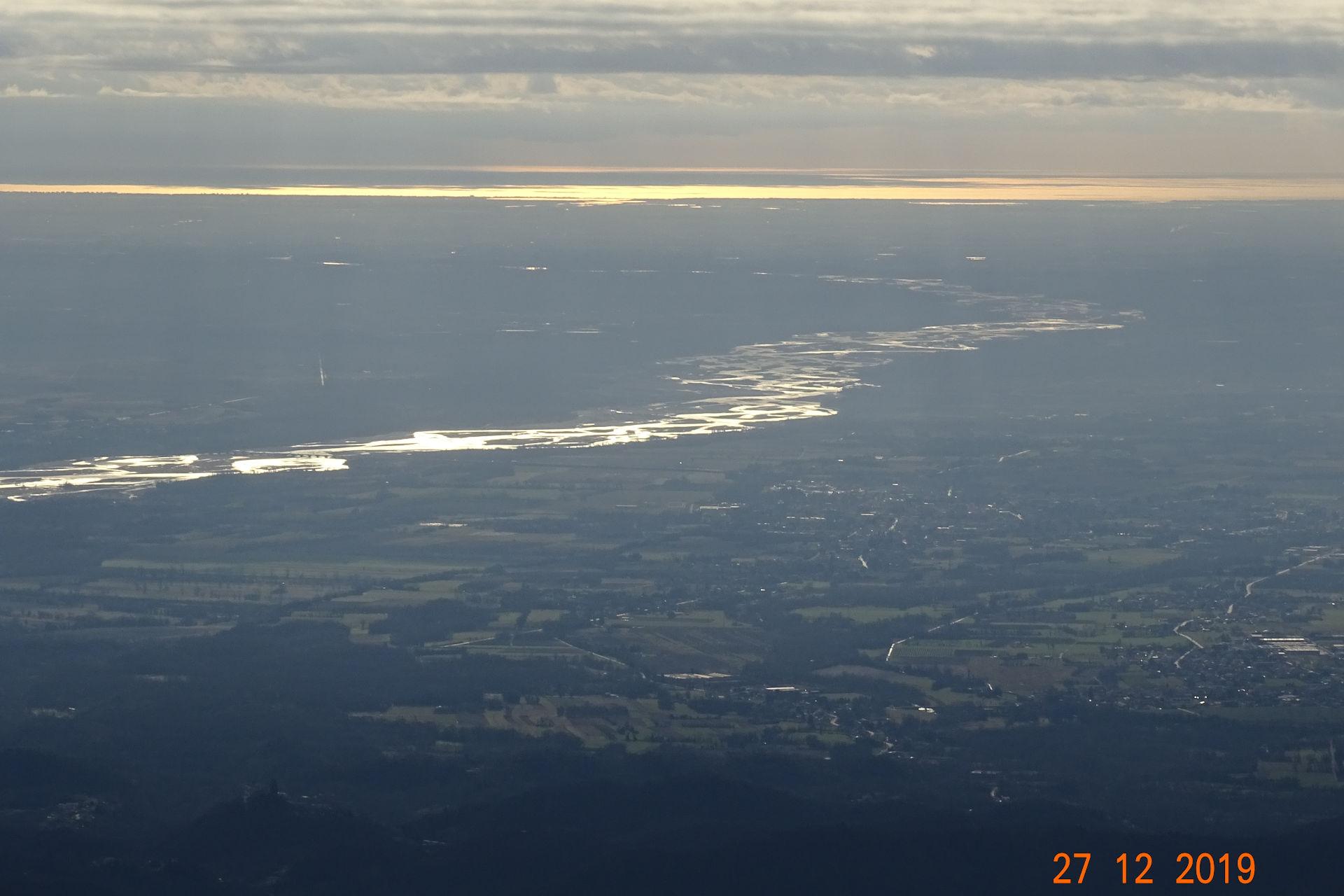 Tagliamento e mare, vista da Clauzetto