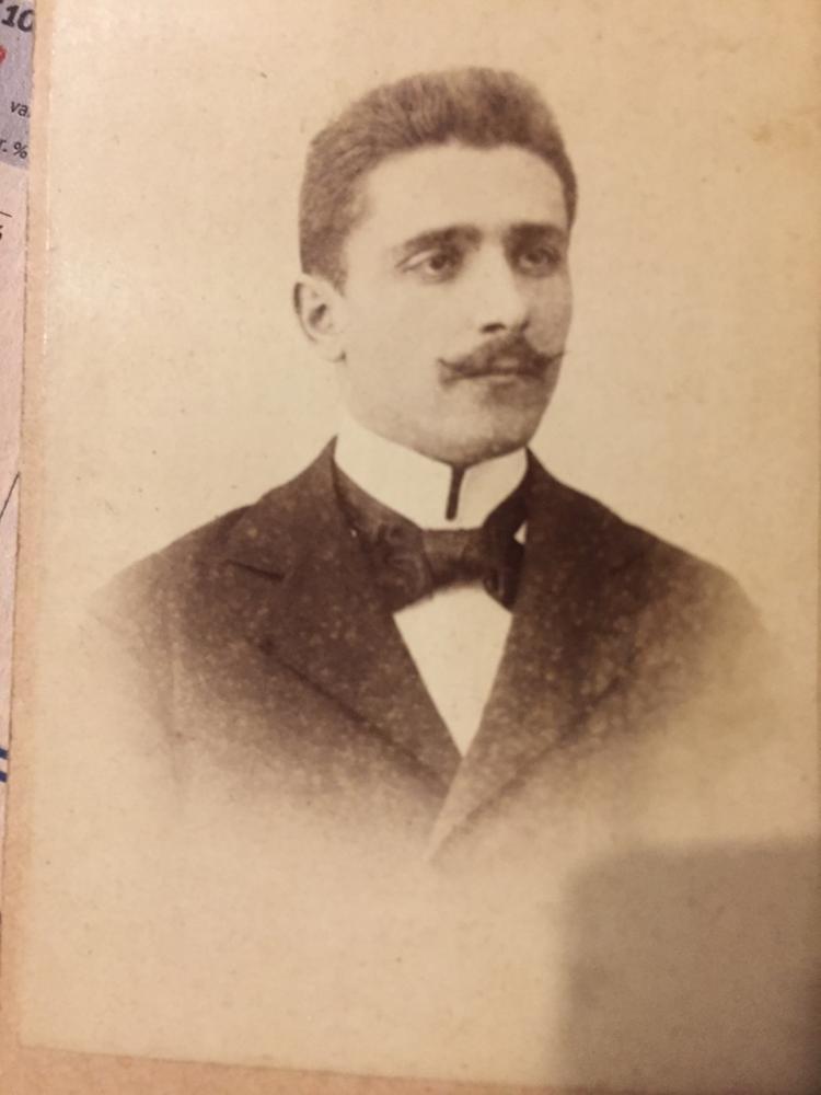 Gio Maria Fabricio, sindaco di Clauzetto, studente universitario a Modena circa 1890