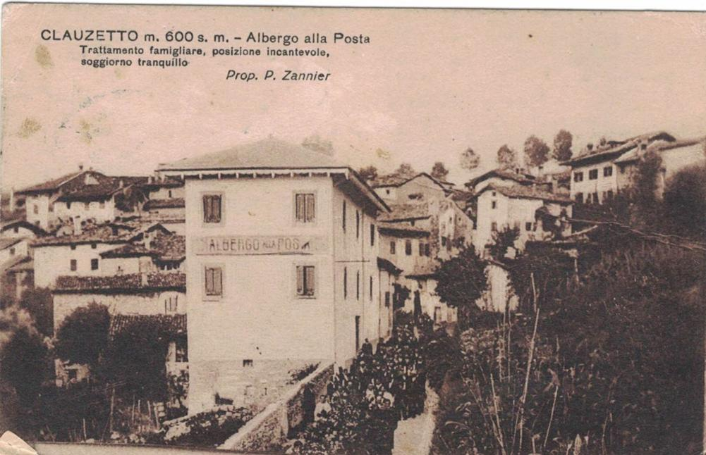 Albergo Posta, proprietario Pietro Zannier